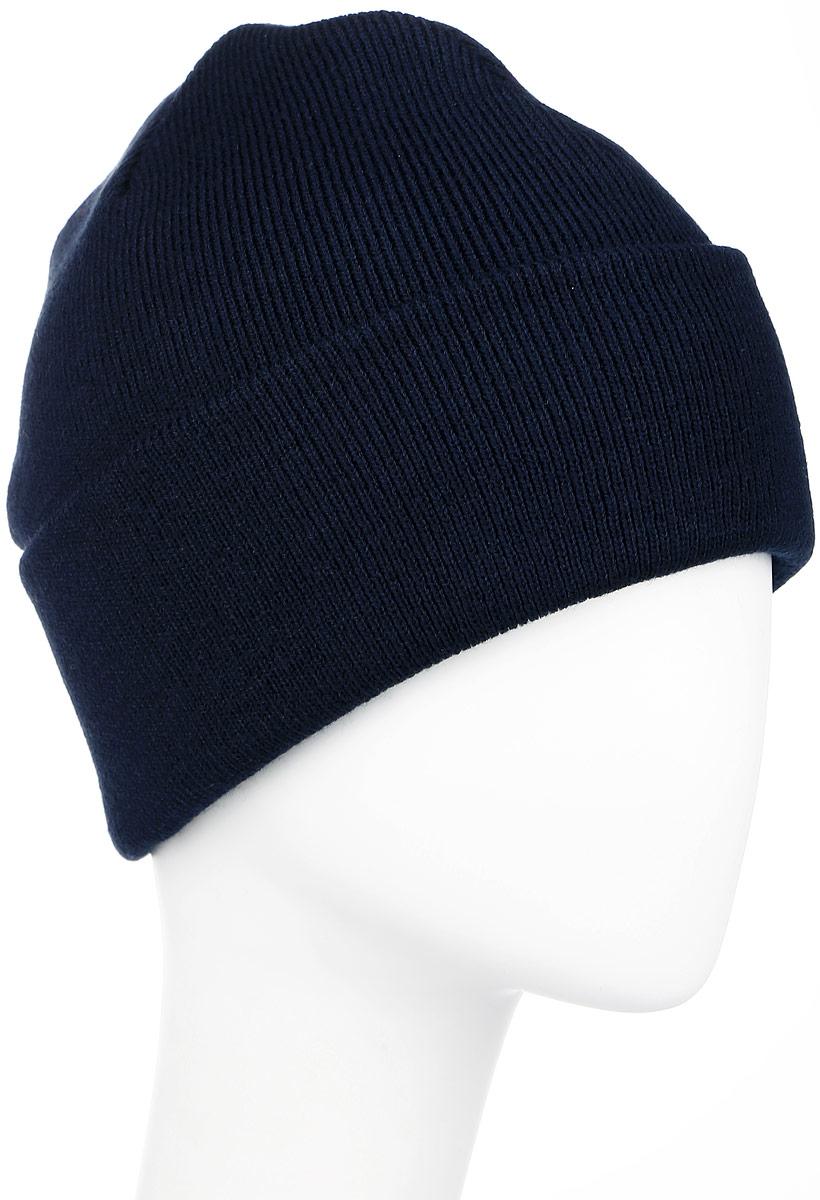 Шапка Ignite, цвет: темно-синий. B-4100. Размер 54/56B-4100Вязаная шапка Ignite идеально подойдет для вас в прохладное время года. Изготовленная из акрила, она мягкая и приятная на ощупь, обладает хорошими дышащими свойствами и максимально удерживает тепло. Шапочка двойная, плотно облегает голову, благодаря чему надежно защищает от ветра и мороза. Шапка может принимать две формы - удлиненная модель или модель с отворотом.Такой стильный и теплый аксессуар дополнит ваш образ и подчеркнет индивидуальность!Уважаемые клиенты!Размер, доступный для заказа, является обхватом головы.