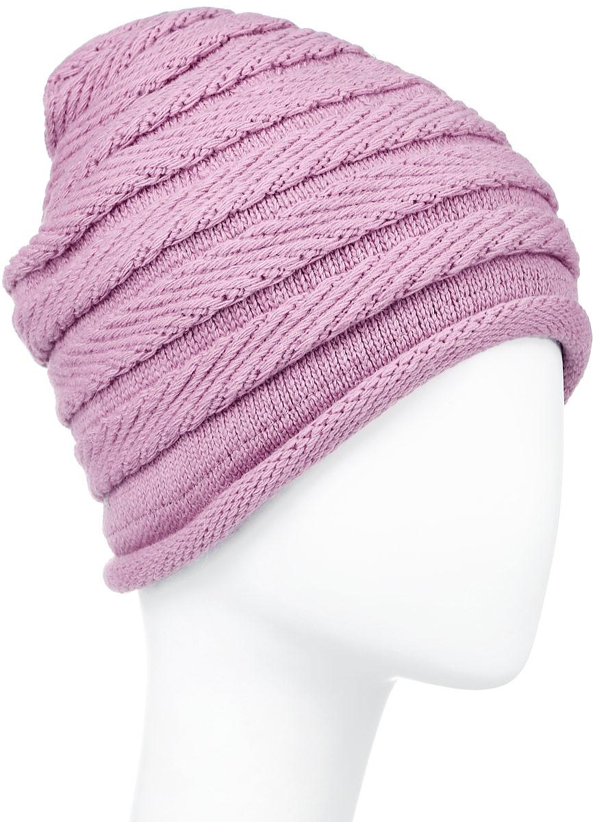 Шапка женская Finn Flare, цвет: розовый. W16-11129_329. Размер 56W16-11129_329Стильная женская шапка Finn Flare дополнит ваш наряд и не позволит вам замерзнуть в холодное время года. Шапка выполнена из высококачественной комбинированной пряжи, что позволяет ей великолепно сохранять тепло и обеспечивает высокую эластичность и удобство посадки. Изделие дополнено теплой подкладкой. Модель с удлиненной макушкой оформлена металлической эмблемой с логотипом производителя. Такая шапка станет модным и стильным дополнением вашего гардероба. Она согреет вас и позволит подчеркнуть свою индивидуальность! Уважаемые клиенты!Размер, доступный для заказа, является обхватом головы.