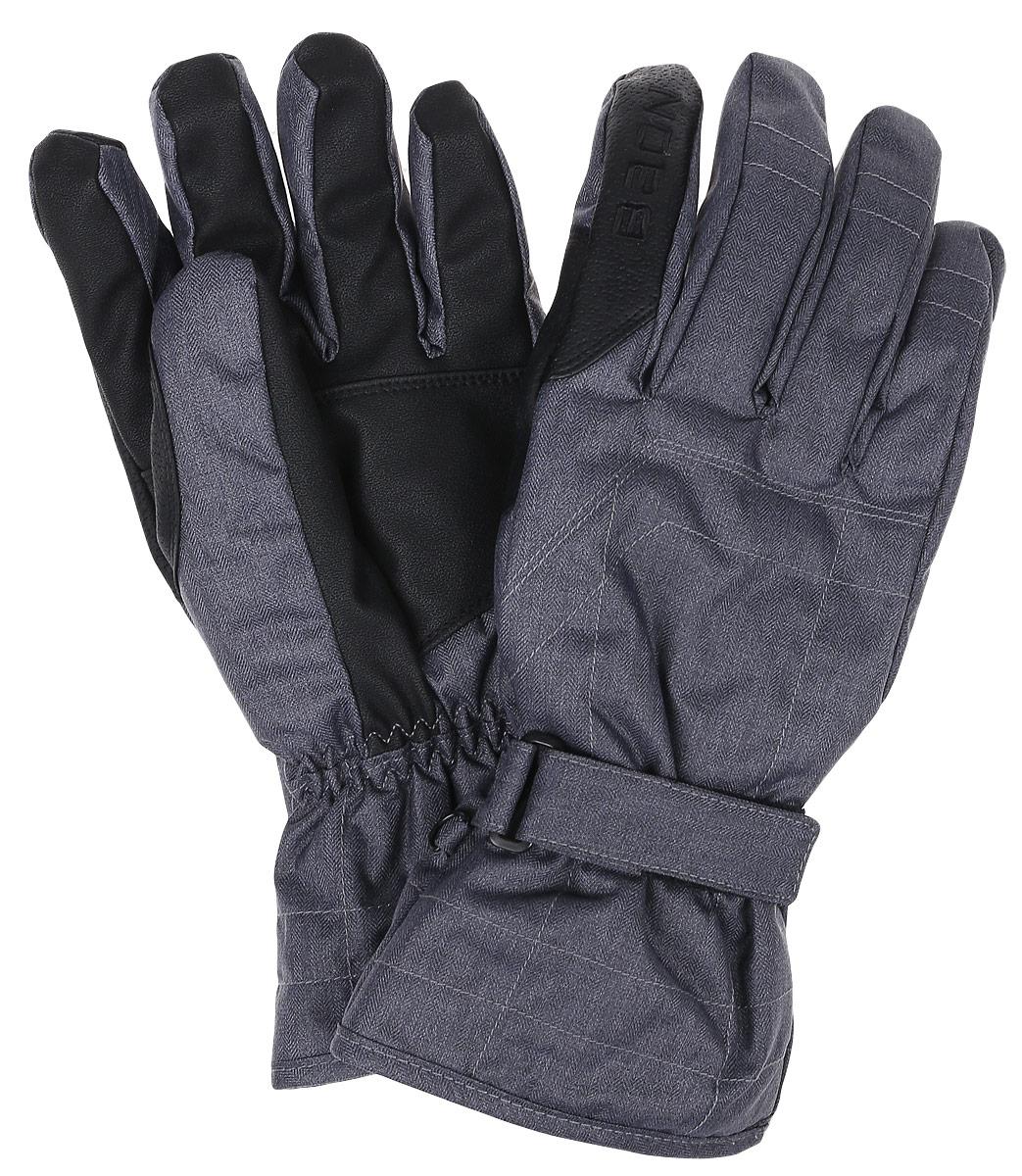 Перчатки мужские Baon, цвет: серый. B866506. Размер M (48)B866506_MARENGO MELANGEГорнолыжные перчатки Baon разработаны специально для поклонников зимних видов спорта. Модель легко снимается и в то же время надежно фиксируется на руке благодаря эластичной вставке на манжете и клапану на липучке, регулирующему объем. Подкладка изделия выполнена из мягкого полиэстера. Ладонная часть выполнена из прочного материала, препятствующего скольжению. Для удобного хранения перчатки оснащены пластиковой застежкой, соединяющей их вместе.