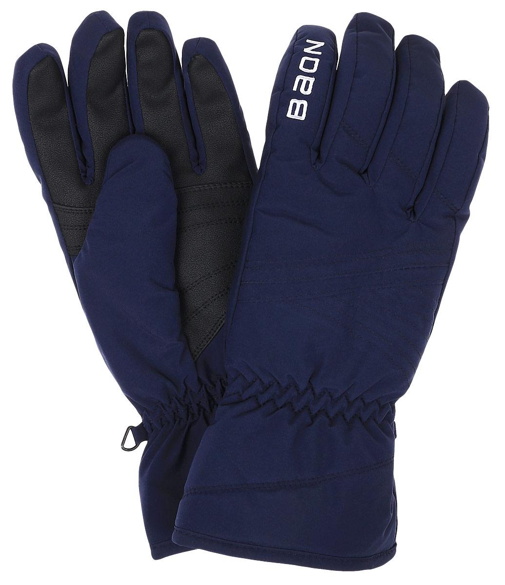 Перчатки женские Baon, цвет: синий. B366519. Размер L (50)B366519_DARK NAVYЖенские перчатки Baon выполнены из полиэстера. На запястьях изделия дополнены эластичными резинками. Подкладка выполнена из мягкого полиэстера. Для удобного хранения перчатки оснащены пластиковой застежкой, соединяющей их вместе.