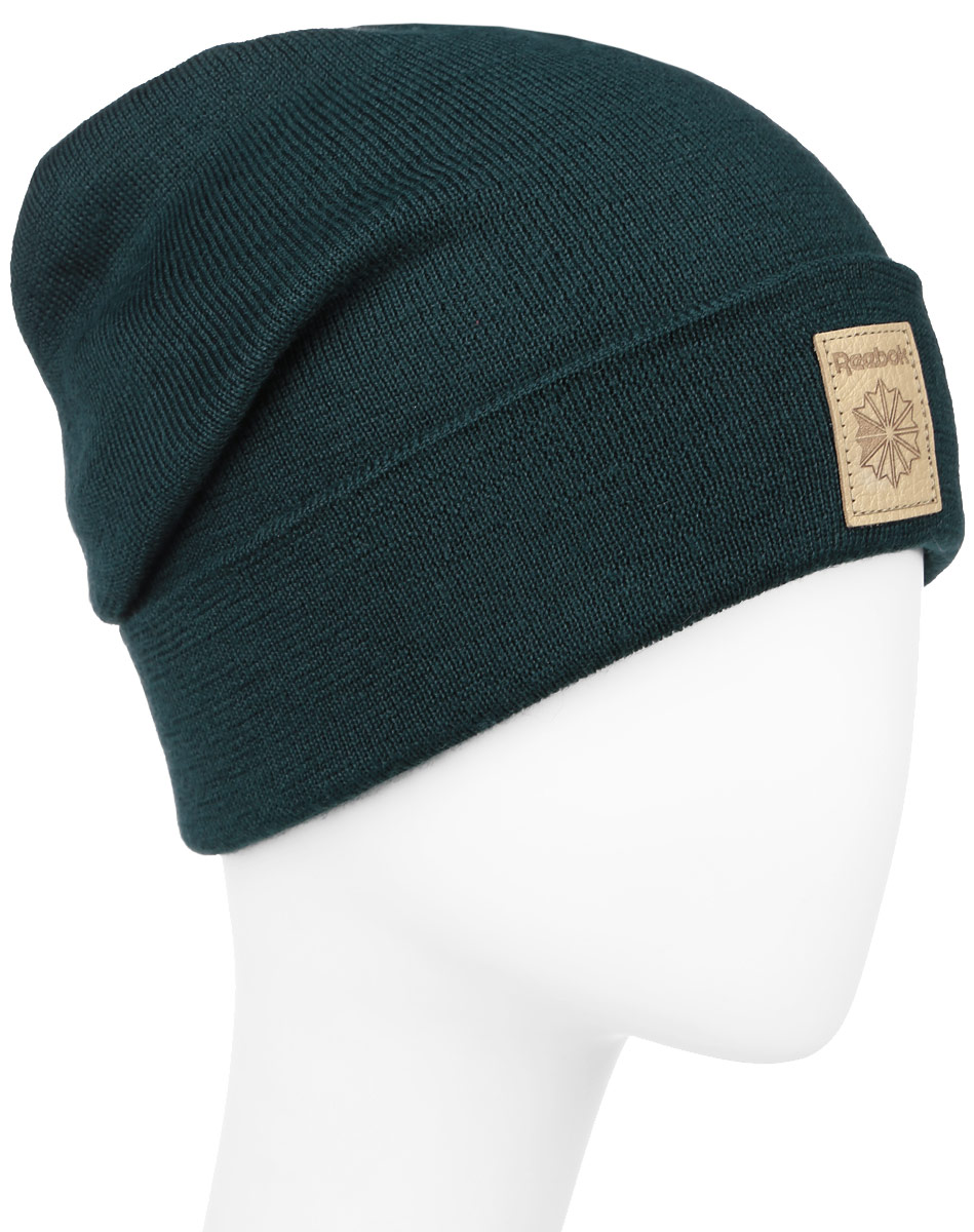 Шапка Reebok Classics Foundation Beanie, цвет: темно-зеленый. AX9978. Размер 58/60AX9978Стильная шапка Reebok Classics Foundation Beanie выполнена из акрила с добавлением шерсти и с подкладкой из натурального хлопка.Шапка оформлена небольшой вышивкой с фирменным логотипом.Уважаемые клиенты!Размер, доступный для заказа, является обхватом головы.