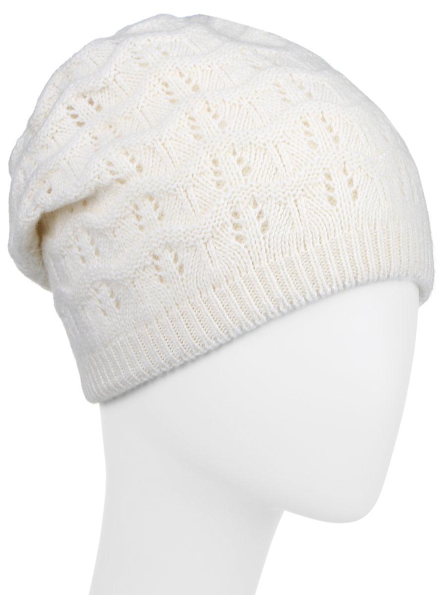 Шапка женская Finn Flare, цвет: белый. W16-11127_201. Размер 56W16-11127_201Стильная женская шапка Finn Flare дополнит ваш наряд и не позволит вам замерзнуть в холодное время года. Шапка выполнена из высококачественной пряжи, что позволяет ей великолепно сохранять тепло и обеспечивает высокую эластичность и удобство посадки.Модель оформлена металлической нашивкой с логотипом бренда.Уважаемые клиенты!Размер, доступный для заказа, является обхватом головы.
