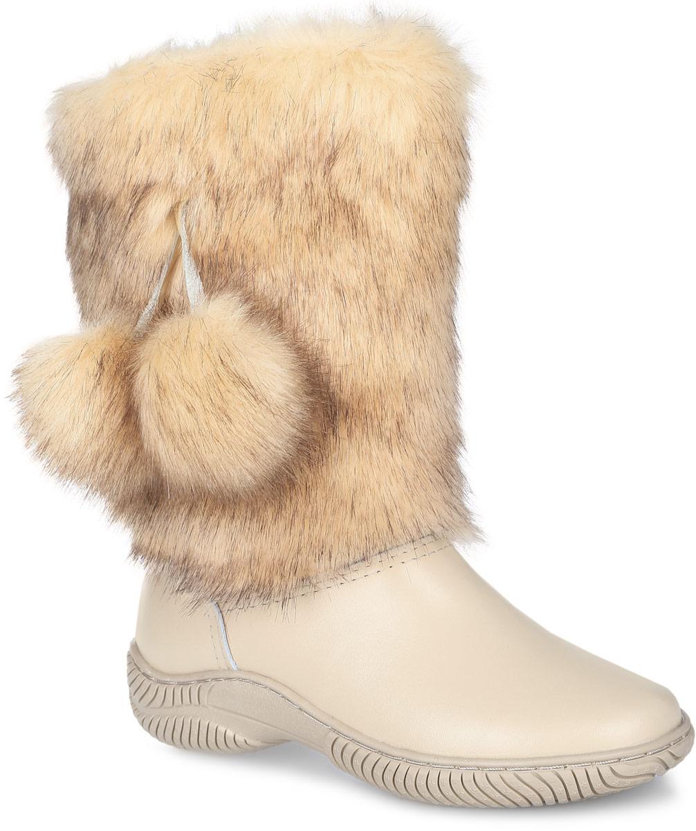 Унты женские 4U, цвет: бежевый. 4UУЖ-52. Размер 384UУЖ-52Стильные женские унты 4U выполнены из натуральной кожи и искусственного меха. Подкладка и стелька из натуральной шерсти не дадут вашим ногам замерзнуть. Модель не имеет застежек. Рифление на подошве обеспечивает отличное сцепление с любой поверхностью.