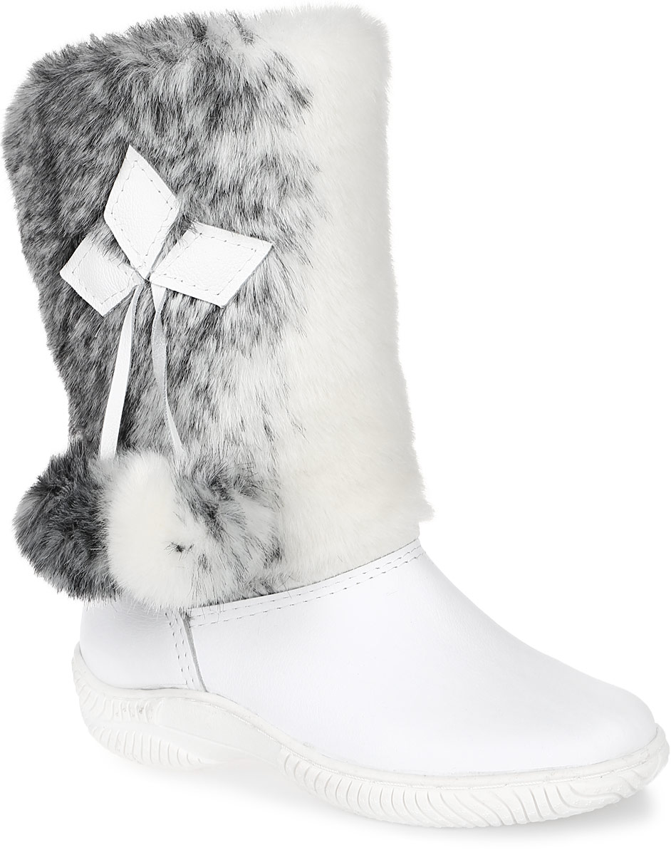 Унты женские 4U, цвет: белый, молочный, серый. 4UУЖ-57. Размер 374UУЖ-57Стильные женские унты 4U выполнены из натуральной кожи и искусственного меха. Подкладка и стелька из натуральной шерсти не дадут вашим ногам замерзнуть. Модель не имеет застежек. Рифление на подошве обеспечивает отличное сцепление с любой поверхностью.