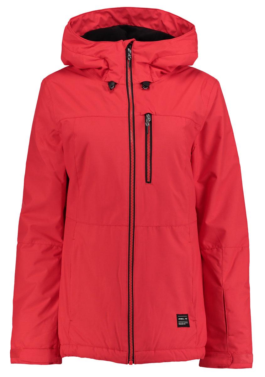 Куртка для сноуборда женская ONeill Pw Solo Jacket, цвет: оранжевый. 655032-3082. Размер M (46/48)655032-3082Женская куртка для сноуборда ONeill выполнена из полиэстера. Модель с длинными рукавами и несъемным капюшоном застегивается на застежку-молнию. Изделие имеет спереди три врезных кармана. Рукава дополнены хлястиками на липучках, которые позволяют регулировать обхват манжет. По бокам куртки, от линии талии до середины рукавов, расположены вентиляционные отверстия. Объем капюшона регулируется при помощи шнурка со стопперами.