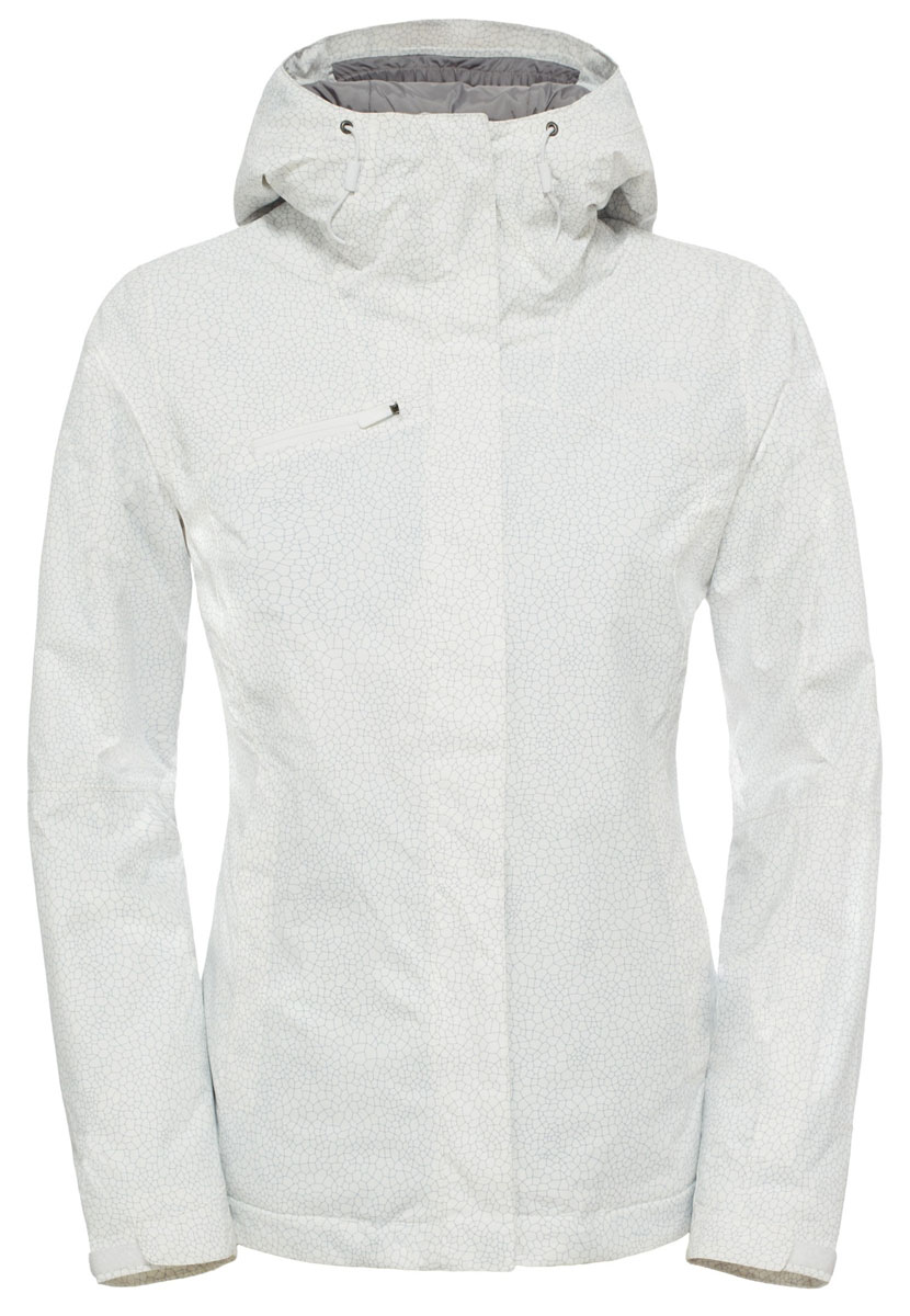 Куртка для сноуборда женская The North Face Descendit, цвет: белый. T92TXTFN4. Размер M (44/46)T92TXTFN4Эффектная и стильная куртка великолепно подходит для горных склонов благодаря спектру характеристик, необходимых для длительных путешествий по горам. Надежный утеплитель Heatseeker хорошо согревает, а водонепроницаемый материал с технологией DryVent сохраняет сухость внутри и снаружи. Благодаря основным характеристикам горнолыжной куртки, таким как внутренний карман для горнолыжных очков и капюшон, который можно носить со шлемом, вы всегда будете готовы к новым приключениям как на трассе, так и за ее пределами. Куртка застегивается на молнию и дополнительно клапаном на липучки.