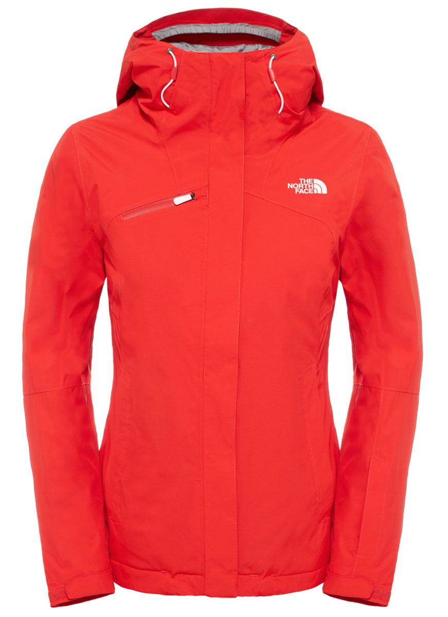 Куртка для сноуборда женская The North Face Descendit, цвет: красный. T92TXTHCL. Размер S (42/44)T92TXTHCLЭффектная и стильная куртка великолепно подходит для горных склонов благодаря спектру характеристик, необходимых для длительных путешествий по горам. Надежный утеплитель Heatseeker хорошо согревает, а водонепроницаемый материал с технологией DryVent сохраняет сухость внутри и снаружи. Благодаря основным характеристикам горнолыжной куртки, таким как внутренний карман для горнолыжных очков и капюшон, который можно носить со шлемом, вы всегда будете готовы к новым приключениям как на трассе, так и за ее пределами. Куртка застегивается на молнию и дополнительно клапаном на липучки.