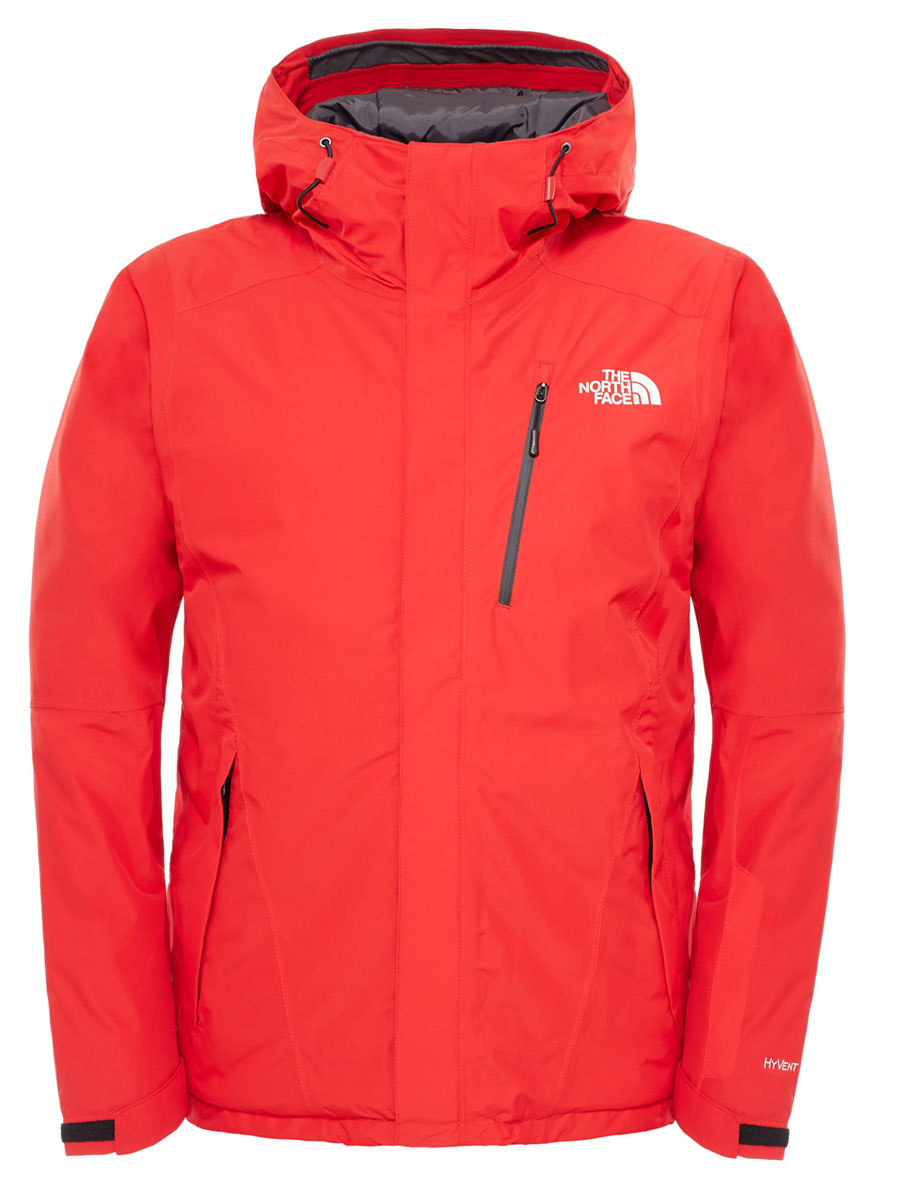 Куртка мужская The North Face M Descendit Jkt, цвет: красный. T0CSK115Q. Размер M (46/48)T0CSK115QМужская куртка The North Face M Descendit Jkt выполнена из высококачественного полиэстера. Материал изготовлен при помощи технологии DryVent, которая обеспечивает превосходные водонепроницаемые и дышащие свойства, и остается сухой как изнутри, так и снаружи. Подкладка изготовлена нейлона. В качестве утеплителя используется полиэстер, который отлично сохраняет тепло.Куртка прямого кроя с несъемным капюшоном застегивается на застежку-молнию с ветрозащитной планкой на липучках и кнопках. Край капюшона дополнен эластичным шнурком со стоплерами. Рукава с внутренней стороны дополнены эластичными манжетами, а с внешней хлястиком на липучке. Проймы рукавов в нижней части дополнены застежками-молниями, которые можно расстегнуть в случае необходимости. Спереди расположено три прорезных кармана на застежке-молнии, с внутренней стороны - большой накладной карман, втачной кармана на застежке-молнии, а также предусмотрено отверстие для наушников. На левом рукаве расположен втачной карман на застежке-молнии. Низ изделия с внутренней стороны дополнено ветрозащитной планкой на кнопках. Изделие оформлено символикой бренда.
