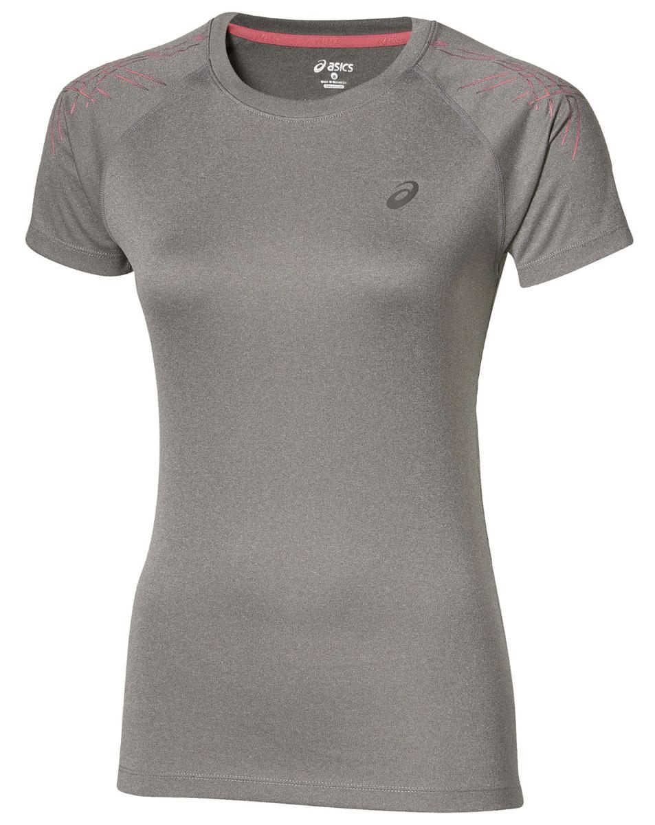 Футболка для бега женская Asics Stripe Top Ss, цвет: серый. 126232-0798. Размер S (42/44)126232-0798Женская футболка Asics Stripe Top SS предназначена специально для бега. Эта легкая беговая футболка обеспечит вам безупречный комфорт и достижение высоких спортивных результатов благодаря мягкой, эластичной ткани, которая отводит влагу и поддерживает тело сухим. Плоские швы не натирают кожу и обеспечивают полный комфорт. Фасон рукавов-реглан элегантен и создает свободу движений. Футболка декорирована логотипом и тигровыми полосками на рукавах. Максимальный комфорт и уникальный спортивный образ!