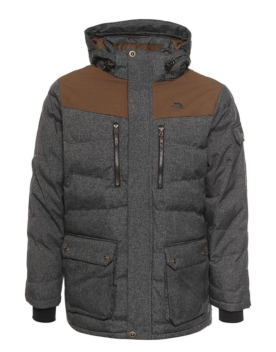 Куртка мужская Trespass Bank, цвет: черный, коричневый. MAJKCAK20002. Размер L (52)MAJKCAK20002Великолепная теплая куртка для русской зимы Trespass Bank выполнена в стиле casual. Утеплитель ColdHeat(синтетический, микроволоконный с функцией быстрого отвода влаги и высоким уровнем теплозащиты и износостойкости). Прекрасно подойдет как для города, так и для отдыха на природе.