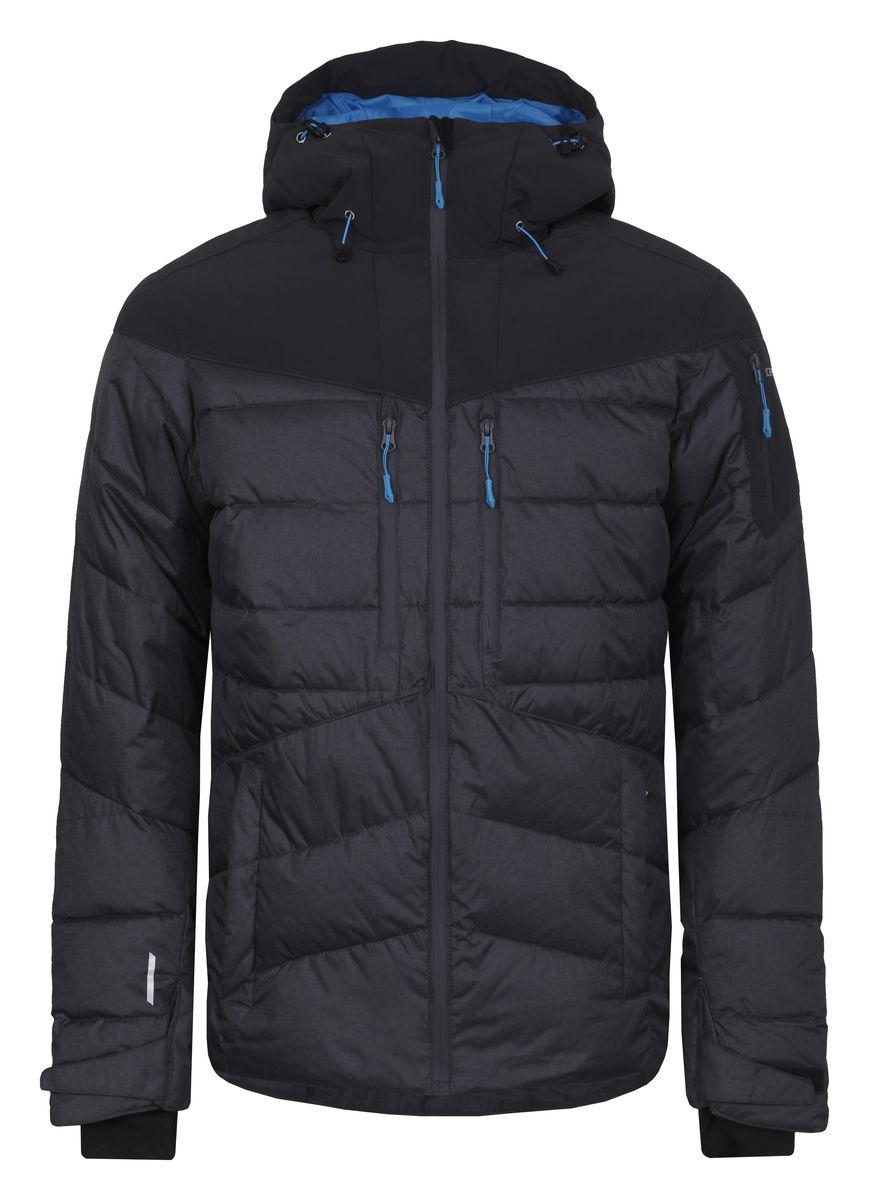 Куртка мужская Icepeak Keelan, цвет: серый. 656233593IV. Размер L (52)656233593IVМужская куртка Icepeak Keelan с длинными рукавами и несъемным капюшоном выполнена из полиэстера. Наполнитель - синтепон. Куртка застегивается на застежку-молнию спереди. Изделие оснащено четырьмя втачными карманами на молниях спереди, втачным карманом на молнии на рукаве, внутренним втачным карманом на молнии и двумя накладными карманами-сетками. Рукава дополнены внутренними текстильными манжетами. Объем капюшона регулируется при помощи шнурка-кулиски. Низ изделия также оснащен шнурком-кулиской. Куртка имеет противоснежную вставку на кнопках изнутри.