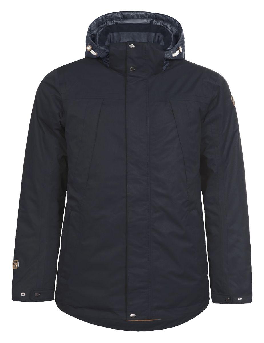 Куртка мужская Icepeak Terry, цвет: темно-синий. 656028553IV. Размер 50656028553IVКуртка Icepeak Terry, изготовленная из водоотталкивающей и ветрозащитной ткани, которая создает оптимальный микроклимат внутри куртки, утеплена полиэстером (200 гр.). Помимо этого здесь использовался утеплитель Super soft touch, состоящий из множества слоев тончайших волокон, которые обеспечивают отличную термоизоляцию, но не утяжеляют изделие. Куртка с воротником-стойкой и капюшоном застегивается на молнию с ветрозащитным клапаном на кнопках и липучках. Капюшон пристегивается при помощи кнопок и молнии. Рукава дополнены хлястиками на кнопках для регулировки размера. Спереди куртка дополнена четырьмя врезными карманами на молнии, а с внутренней стороны расположены один втачной карман на молнии. Низ куртки дополнен кулиской со стопперами.
