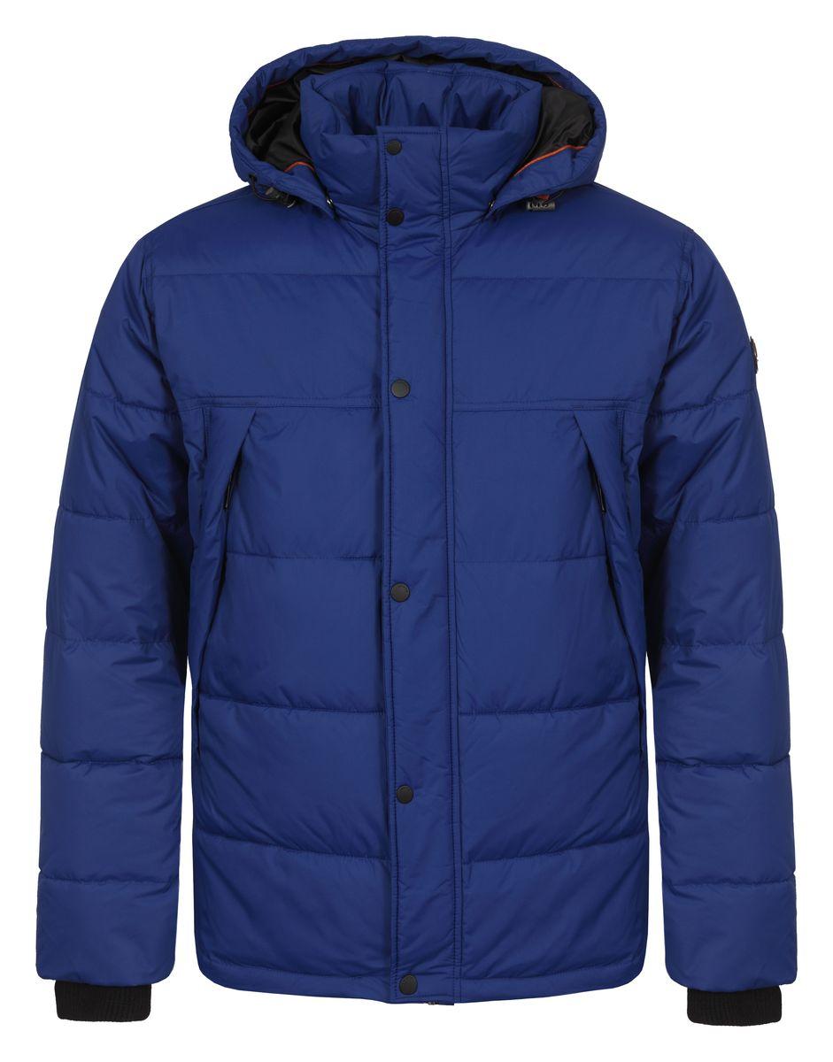 Куртка мужская Luhta Paul, цвет: синий. 636567355LV. Размер L (52)636567355LVМужская куртка Luhta Paul с длинными рукавами, воротником-стойкой и съемным капюшоном на кнопках выполнена из полиэстера. Наполнитель - синтепон. Куртка застегивается на застежку-молнию спереди и имеет ветрозащитный клапан на кнопках. Изделие оснащено двумя втачными карманами на молниях спереди, а также внутренним втачным карманом на молнии. Рукава дополнены внутренними трикотажными манжетами. Объем капюшона регулируется при помощи шнурка-кулиски. Низ изделия также оснащен шнурком-кулиской.