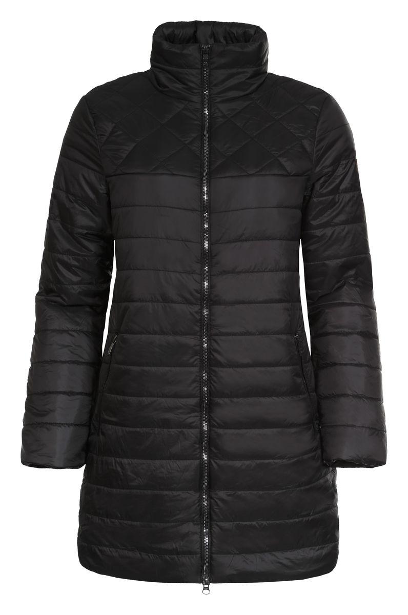 Куртка женская Luhta Pijatta, цвет: черный. 636475363LV. Размер 40 (46)636475363LVСтильная женская куртка Luhta Pijatta согреет вас в прохладную погоду. Модель выполнена из 100% полиамида, а подкладка из полиэстера с утеплителем из высокотехнологичного полиэстера (100 г/м2). Модель с длинными рукавами и воротником-стойкой застегивается на застежку-молнию. Спереди куртка дополнена двумя втачными карманами с застежками-молниями, а с внутренней стороны одним прорезным карманом на молнии. Эта модная куртка послужит отличным дополнением к вашему гардеробу.