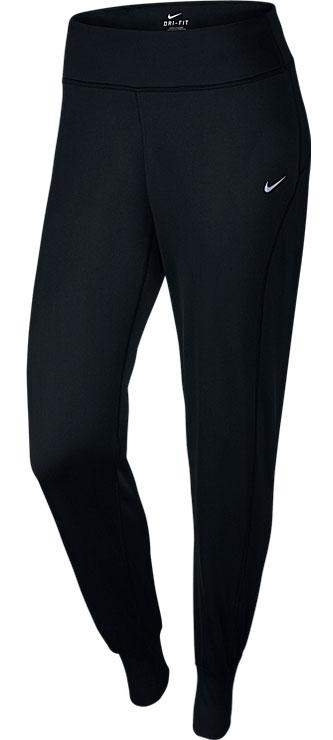 Брюки спортивные женские Nike Thermal Pant, цвет: черный. 686925-010. Размер M (44/46)686925-010Брюки Nike Thermal созданы для защиты от холода! Ткань с функцией отвода влаги дает ощущение комфорта и сухости, позволяя в холодную погоду пробежать на несколько километров больше.
