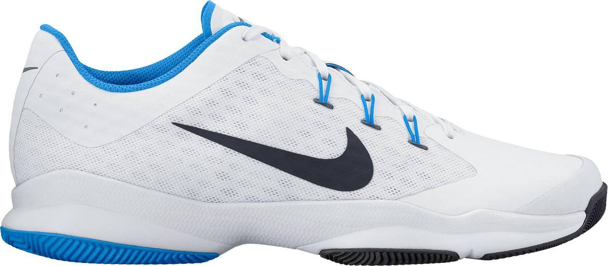 Кроссовки для тенниса мужские Nike Air Zoom Ultra, цвет: белый. 845007-140. Размер 7,5 (40)845007-140Мужские кроссовки для тенниса Air Zoom Ultra от Nike подходят для игры в зале и на кортах с любым покрытием. Модель выполнена из многослойного сетчатого материала и дополнена накладками из синтетической кожи на передней части стопы. Нити Flywire создают динамическую фиксацию. Подкладка и стелька из текстиля комфортны при движении. Шнуровка надежно зафиксирует модель на ноге. Вставки Zoom Air в передней части стопы обеспечивают оптимальную амортизацию. Подметка из износостойкой резины для надежного сцепления с поверхностью и исключительной прочности.