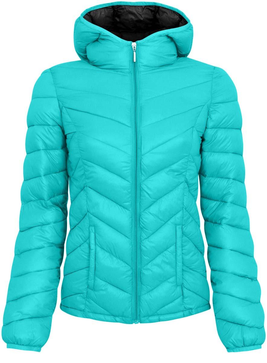 Куртка женская oodji Ultra, цвет: мятный. 10203028-1/33445/6D00N. Размер 36 (42-164)10203028-1/33445/6D00NЖенская куртка oodji Ultra выполнена из 100% полиамида, в качестве подкладки также используется полиамид. Утеплитель - высококачественный полиэстер. Модель с несъемным капюшоном застегивается на застежку-молнию. Низ рукавов и край воротника дополнены эластичными бейками. Проймы рукавов дополнены небольшими отверстиями для дополнительной вентиляции. Спереди расположено два втачных кармана без застежки, а с внутренней стороны куртка оформлена двумя накладными кармашками.УВАЖАЕМЫЕ КЛИЕНТЫ! Обращаем ваше внимание на тот факт, что куртка маломерит на 4 размера: подходит для подростков.
