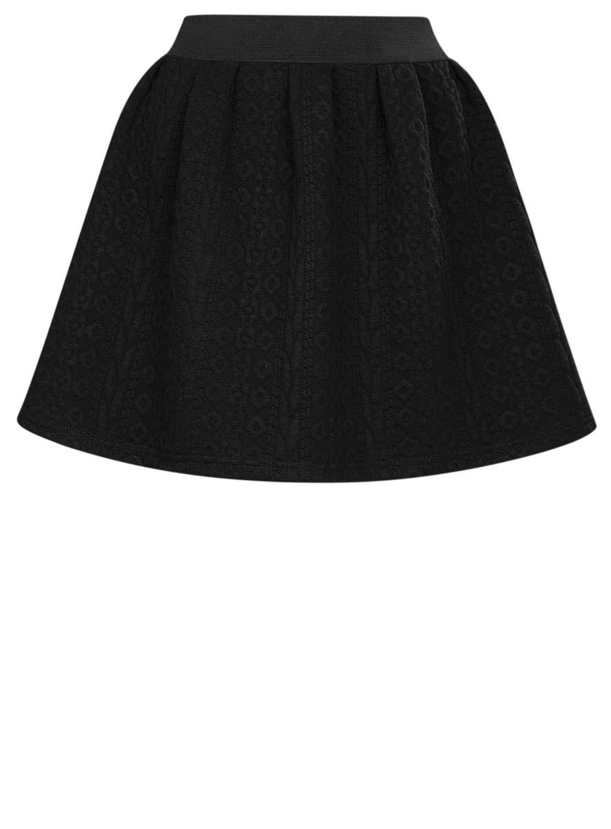 Юбка oodji Ultra, цвет: черный. 14100019-3/46005/2900N. Размер L (48) цена 2016