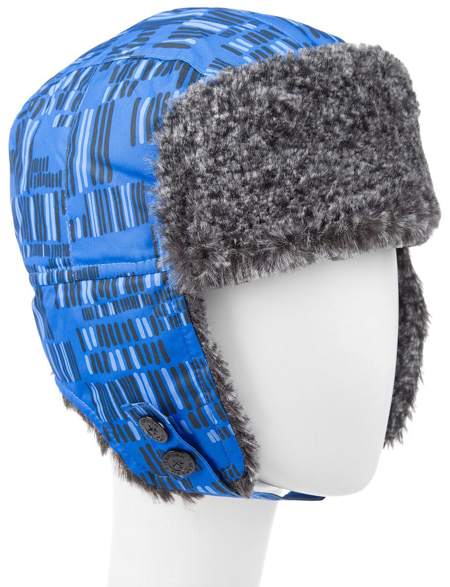 Шапка для мальчика Icepeak, цвет: синий, черный, серый. 652803503IV. Размер S (50)652803503IVУдобная и теплая шапка-ушанка Icepeak для мальчика, выполненная из полиэстера, дополнена мягкой флисовой подкладкой и отделкой из искусственного меха. Модель застегивается с помощью хлястика с кнопками. Шапка-ушанка оформлена контрастным принтом.Уважаемые клиенты!Размер, доступный для заказа, является обхватом головы.