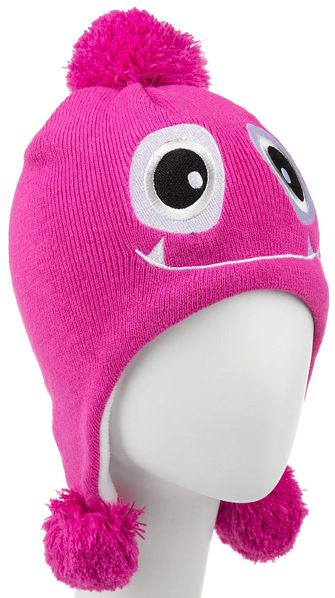 Шапка детская Icepeak, цвет: розовый. 652879IV. Размер универсальный652879IVСтильная детская шапка Icepeak идеально подойдет для прогулок в прохладное время года. Изготовленная из акрила, она обладает хорошими дышащими свойствами и хорошо удерживает тепло. Внутри - флисовая подкладка.Шапка декорирована аппликацией в виде мордочки, а на макушке украшена помпоном. По бокам модель дополнена пушистыми помпонами.