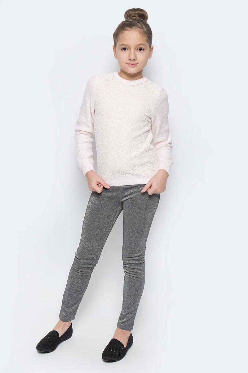 Джемпер для девочки Sela, цвет: теплый розовый. JR-614/158-6416. Размер 140, 10 летJR-614/158-6416Модный джемпер для девочки выполнен из хлопковой пряжи, передняя полочка выполнена из хлопка и нейлона на подкладке из эластичного хлопка. Модель с круглым вырезом горловины и длинными рукавами. Горловина, манжеты рукавов, и низ изделия связаны резинкой.