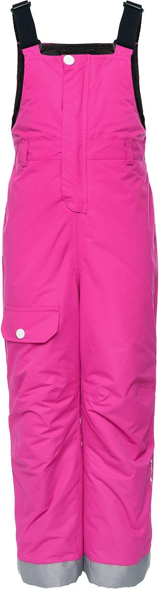 Полукомбинезон детский Icepeak Jess Kd, цвет: розовый. 651032561IV. Размер 98651032561IVПолукомбинезон изготовлен из водоотталкивающей и ветрозащитной мембранной ткани 10000/5000 г/м2 /24 ч, которая защищает от ветра и влаги даже в экстремальных условиях. Модель с невысокой грудкой застегивается спереди на пластиковую застежку-молнию и дополнительно имеет ветрозащитную планку на липучках и кнопке и эластичные наплечные лямки, регулируемые по длине. На талии сзади предусмотрена широкая эластичная резинка.Снизу брючин предусмотрены муфты с прорезиненными полосками, препятствующие попаданию снега в обувь и не дающие брючинам задираться вверх. Спереди брючина оформлена имитацией кармана с клапанов на кнопке. Изделие дополнено светоотражающими элементами для безопасности в темное время суток.
