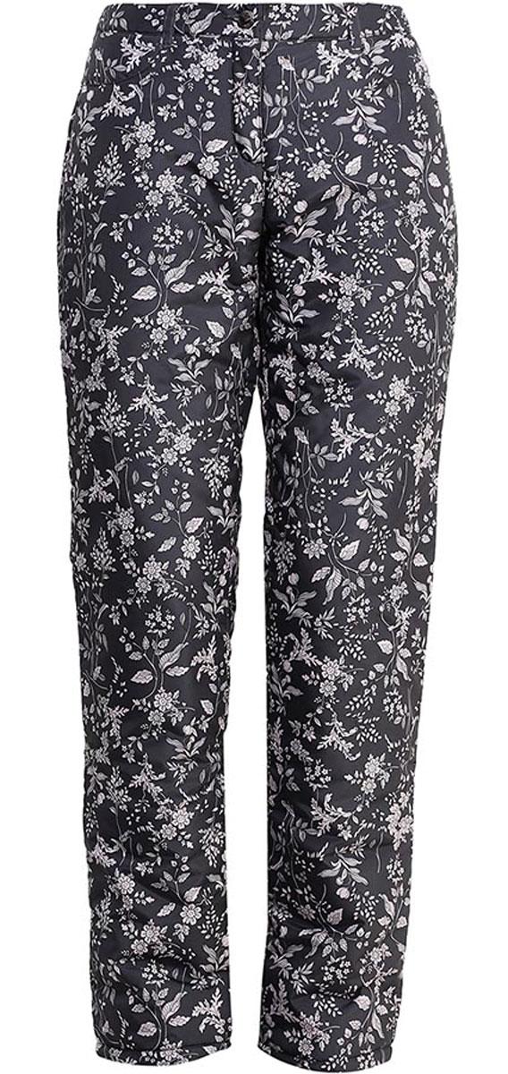 Брюки женские Finn Flare, цвет: темно-серый. W16-32009_202. Размер S (44)W16-32009_202Утепленные женские брюки Finn Flare свободного покроя изготовлены из 100% полиэстера. В качестве утеплителя используется полиэстер. На поясе изделие застегивается на ширинку с молнией и пуговицу, имеются шлевки для ремня. Спереди изделие дополнено двумя втачными карманами. Оформлено изделие интересным цветочным принтом.