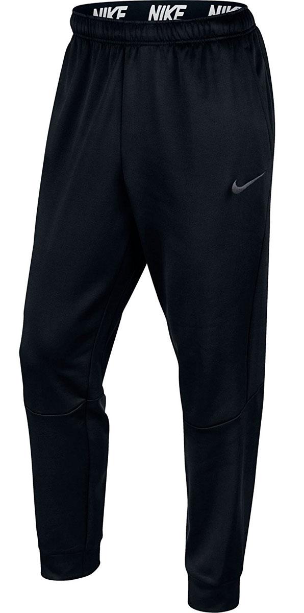 Брюки спортивные мужские Nike M Thrma Pant Taper, цвет: черный. 800193-010. Размер XL (54/56)800193-010Брюки Nike M NK Therma выполнены из ткани Therma надежно защищают от холода. Зауженные к лодыжкам штанины плотно облегают ноги, а эластичный пояс обеспечивает комфортную посадку.
