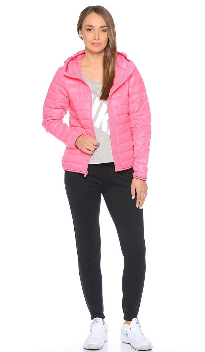 Пуховик женский Nike W Nsw Down Fill Hd Jkt, цвет: розовый. 805082-627. Размер S (42/44)805082-627Куртка-пуховик Nike Down Fill Jkt выполнена из гладкого текстиля. C натуральным утеплителем, застежка на молнию, прямой крой, два кармана на молнии.