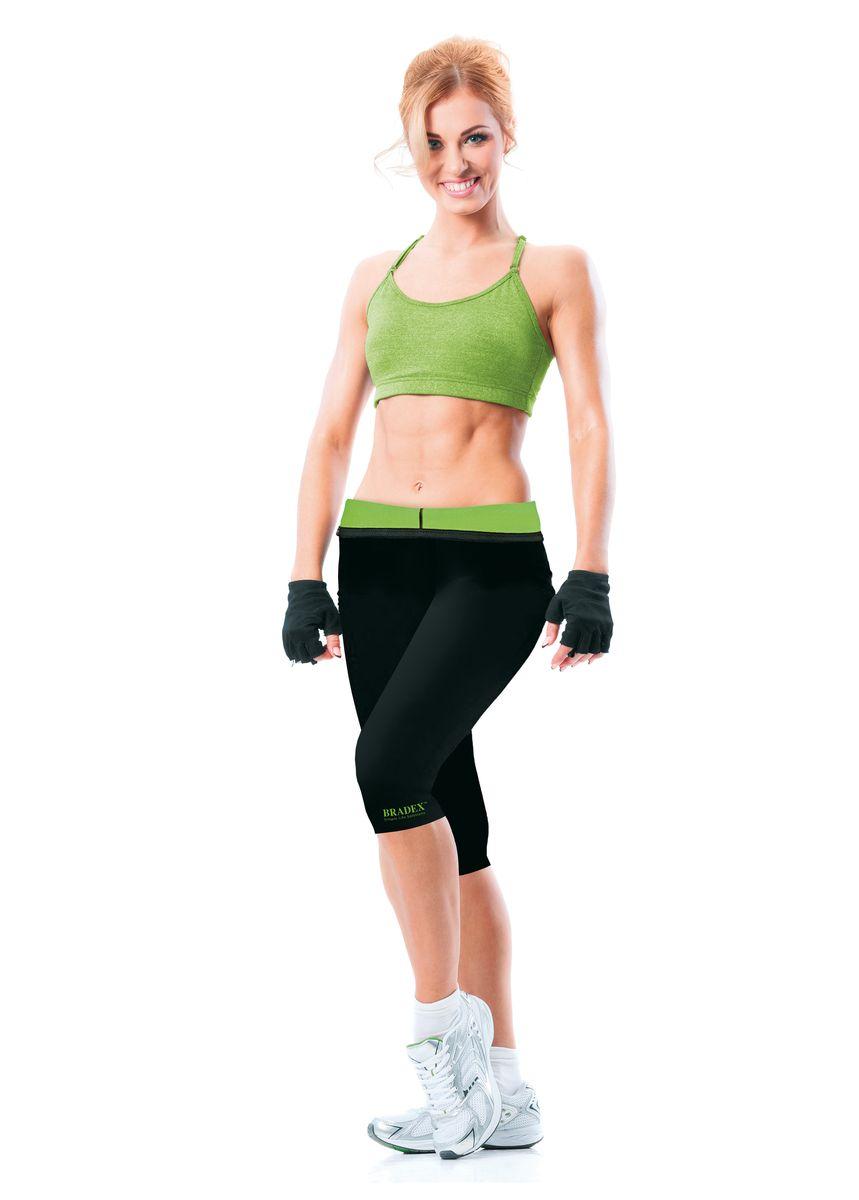 Леггинсы для похудения женские Bradex Body Shaper, цвет: черный, зеленый. SF 0202. Размер XXXXL (56/58)Body ShaperСтильные спортивные леггинсы с завышенной талией из неопрена избавят вас от лишних сантиметров на талии, уменьшат бедра и ноги. Плотно облегая тело, леггинсы создают эффект бани, заставляя организм потеть и, как следствие, активно терять вес. Специальная подкладка леггинс не пропускает пот и запахи.