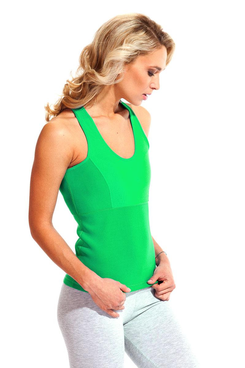 Майка для похудения женская Bradex Body Shaper, цвет: зеленый. SF 0144. Размер XXL (52)Body ShaperМайка для похудения женская Bradex Body Shaper изготовлена из инновационной ткани, которая стимулирует интенсивное потоотделение, сжигая калории на спине, боках, груди, животе и выводя вместе с потом все токсины. Наденьте майку и просто гуляйте, играйте с детьми, готовьте, проводите уборку. - Двигаясь в обычном режиме, Ваше тело под майкой потеет в 4 раза сильнее, чем под обычной одеждой. - Нижний слой материала усиливает потоотделение, а наружный – оставляет одежду сухой. Худейте без перегрузок и с удовольствием!