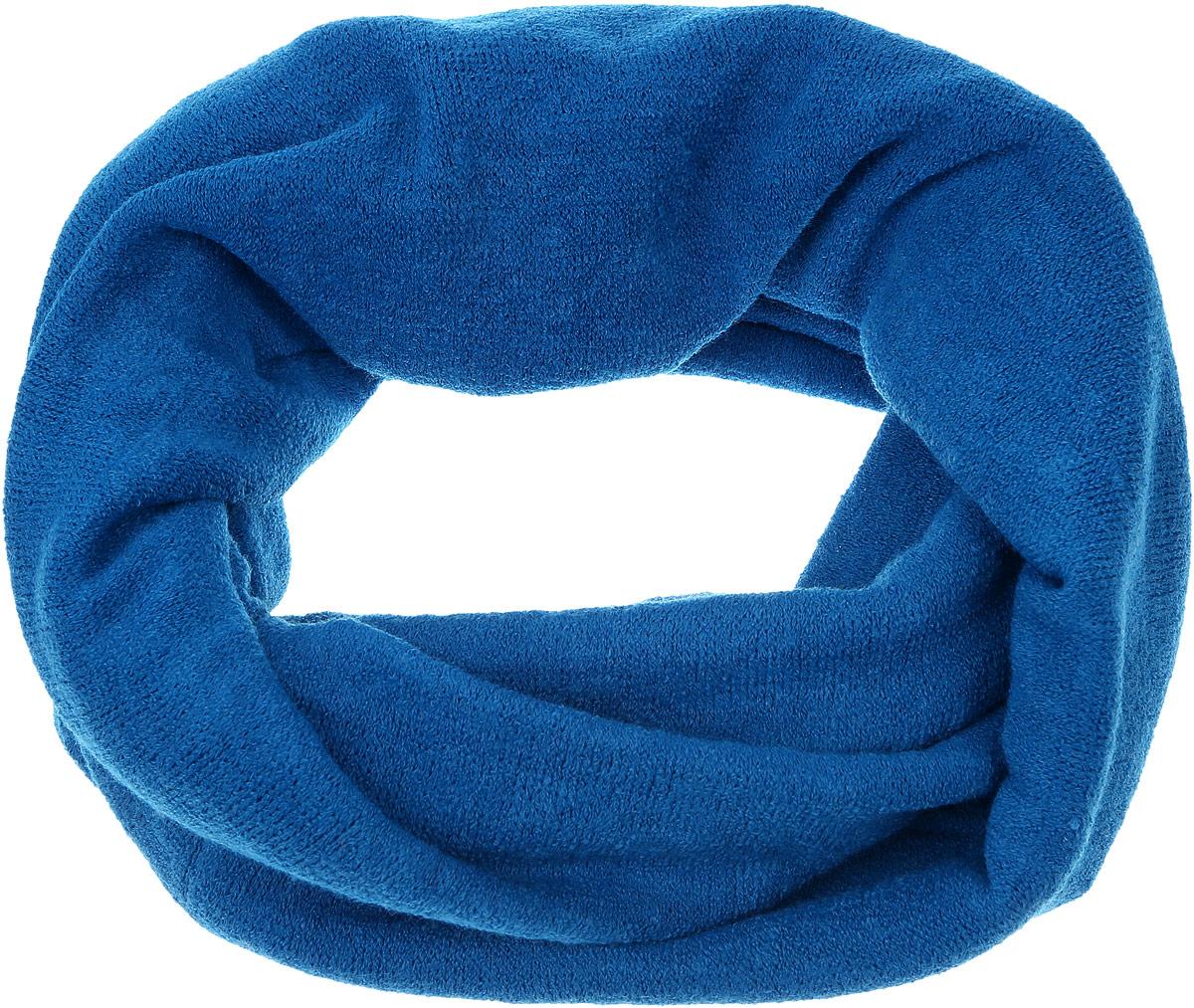 Снуд-хомут женский Vita Pelle, цвет: темно-синий. V2505-A48. Размер 32 см х 154 смV2505-A48Женский вязаный снуд-хомут Vita Pelle станет отличным дополнением к гардеробу в холодную погоду. Изготовленный из высококачественной комбинированной пряжи, он необычайно мягкий и приятный на ощупь, максимально сохраняет тепло.Шарф-снуд мелкой вязки гармонично дополнит образ современной женщины, следящей за своим имиджем и стремящейся всегда оставаться стильной.
