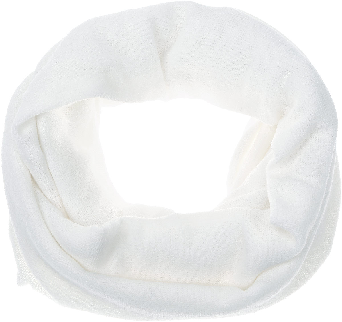 Снуд-хомут женский Vita Pelle, цвет: белый. V2505-А2. Размер 32 см х 154 смV2505-А2Женский вязаный снуд-хомут Vita Pelle станет отличным дополнением к гардеробу в холодную погоду. Изготовленный из высококачественной комбинированной пряжи, он необычайно мягкий и приятный на ощупь, максимально сохраняет тепло.Шарф-снуд мелкой вязки гармонично дополнит образ современной женщины, следящей за своим имиджем и стремящейся всегда оставаться стильной.