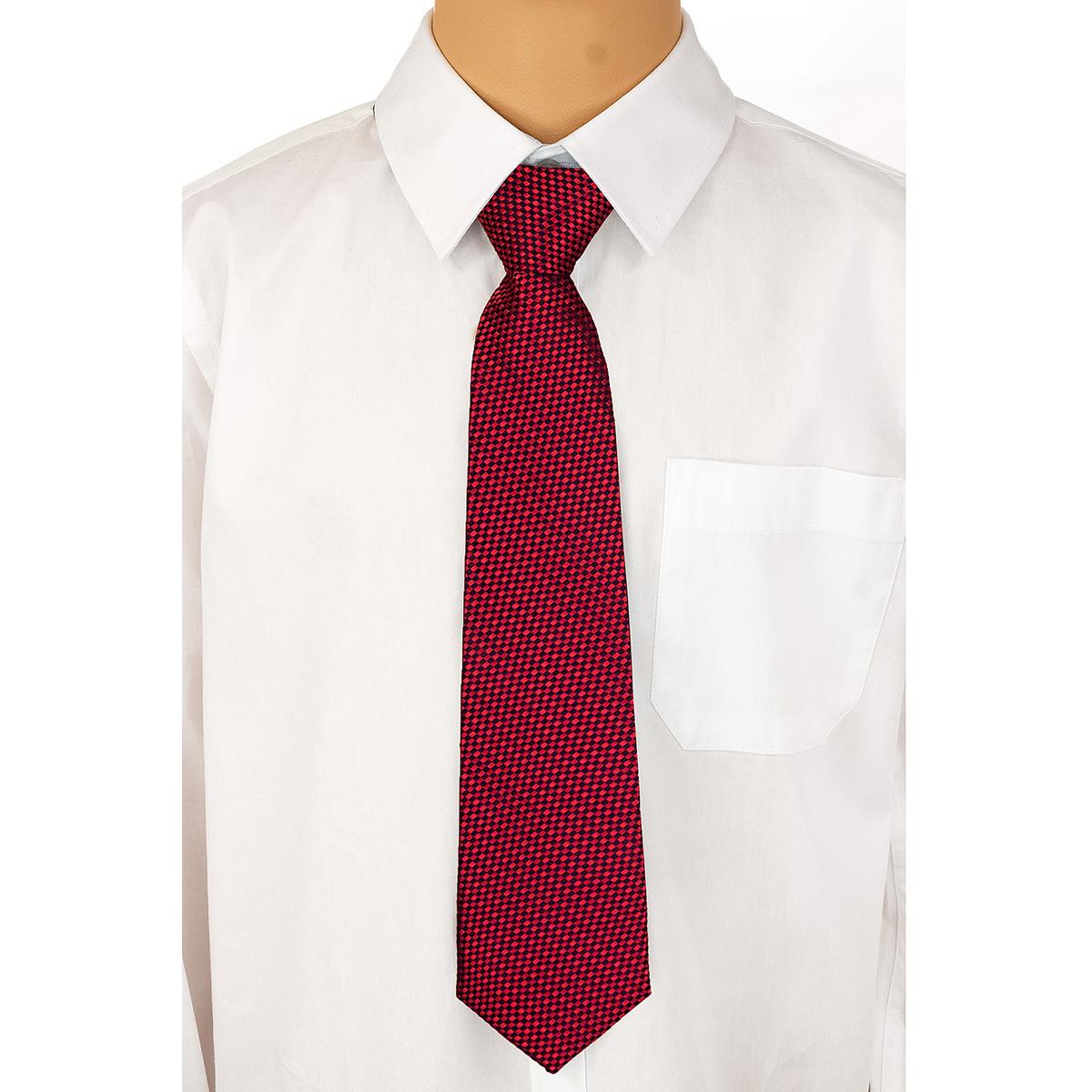 Галстук для мальчика Brostem, цвет: красный, черный. СCAL7-7. Размер универсальныйСCAL7-7Модный галстук для мальчика Brostem изготовлен из полиэстера. Обхват шеи регулируется с помощью пластикового фиксатора. Галстук оформлен оригинальным принтом.