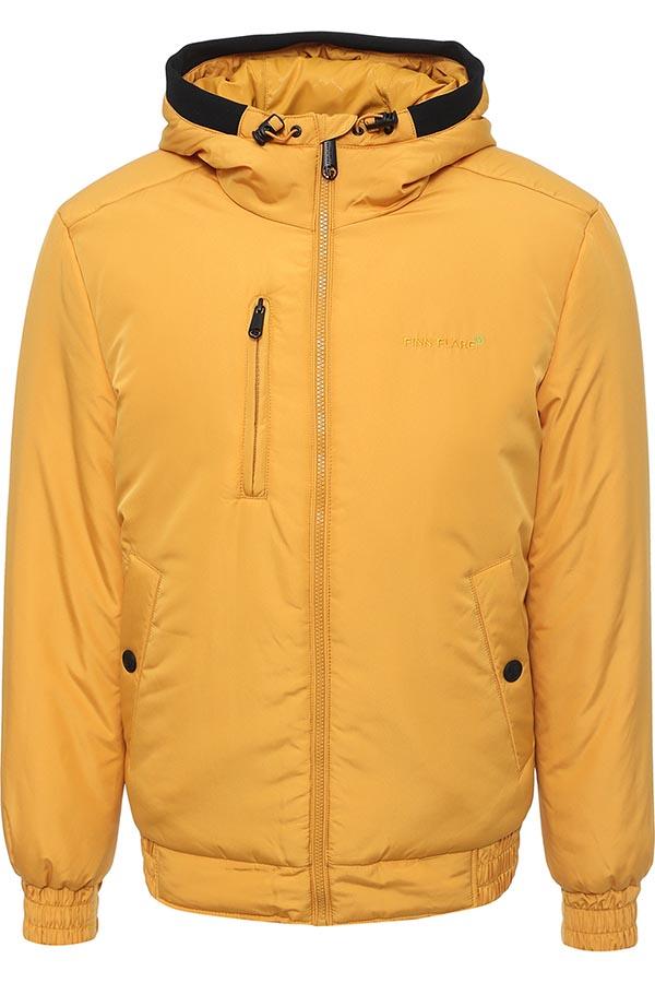Куртка мужская Finn Flare, цвет: желтый. W16-42001_421. Размер L (50)W16-42001_421Стильная мужская куртка Finn Flare превосходно подойдет для прохладных дней. Куртка выполнена из высококачественного материала с подкладкой и утеплителем из полиэстера. Модель с длинными рукавами и несъемным капюшоном застегивается на застежку-молнию. Капюшон на стопперах, а макушка дополнена утягивающим хлястиком. Спереди изделие дополнено двумя втачными карманами с клапанами на кнопках и одним прорезным на молнии. На внутренней стороне куртка оформлена одним прорезным карманом на молнии и двумя втачными карманами на липучке и пуговице. Манжеты и низ изделия выполнены из эластичной резинки. Оформлена модель на груди вышивкой с названием бренда.