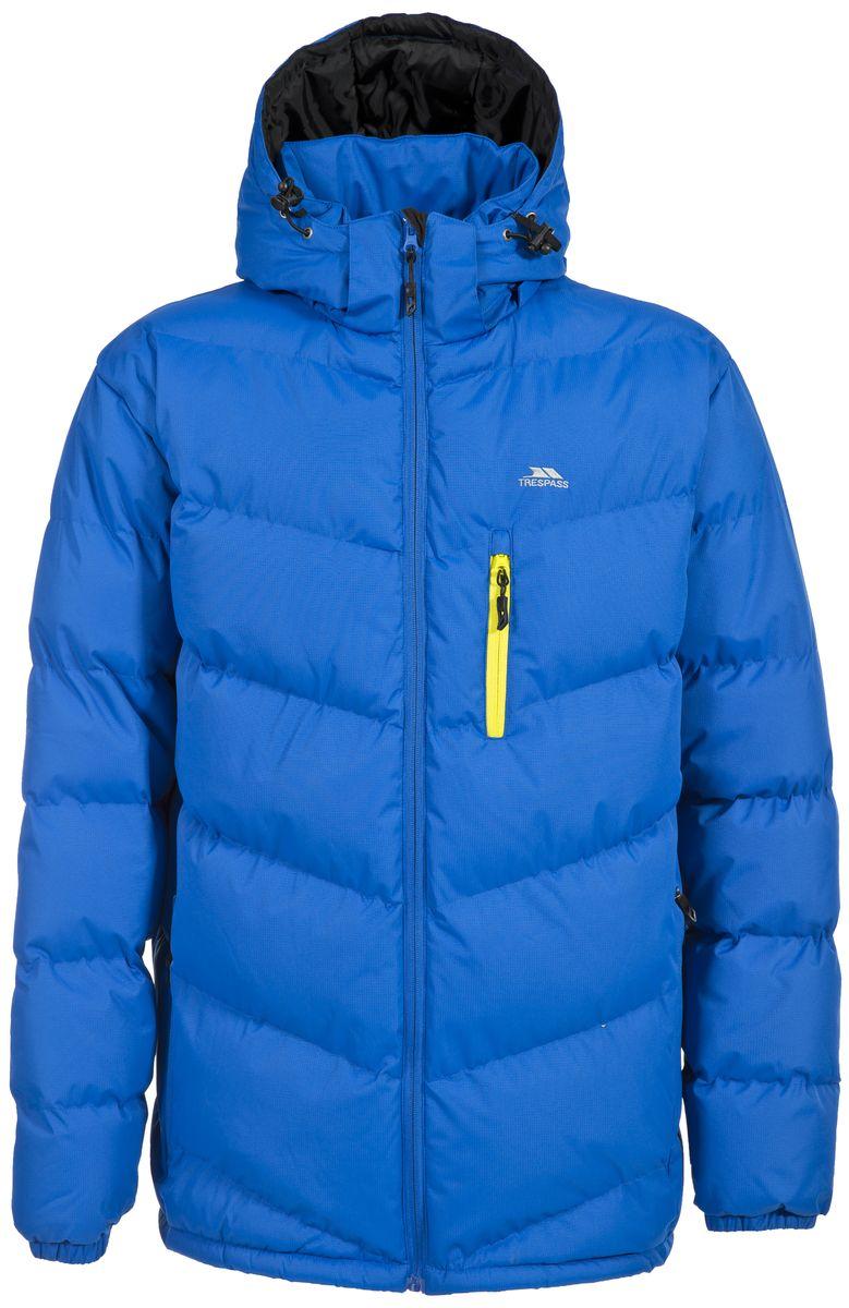 Куртка мужская Trespass Blustery, цвет: голубой. MAJKCAK20004. Размер S (48)MAJKCAK20004Мужская куртка Trespass Blustery выполнена из 100% полиэстера и застегивается на застежку-молнию. Утеплитель ColdHeat 360 г/м2 (синтетический, микроволоконный с функцией быстрого отвода влаги и высоким уровнем теплозащиты и износостойкости). Каждый простроченный шов от иглы оставляет сотни отверстий, через которые влага может проникать внутрь куртки. Применение технологии Taped Seams - обработка швов термо-пластичесткой лентой под высоким давлением - запечатывает швы, тем самым препятствуя проникновению влаги внутрь куртки, дополнительно обеспечивая вашему телу сухость и комфорт. Материал верха защищает от влаги (влагозащита - 5 000мм) и имеет дополнительное усиление от разрыва. Утепленный регулируемый капюшон. Прекрасно подойдет как для города, так и для отдыха на природе.