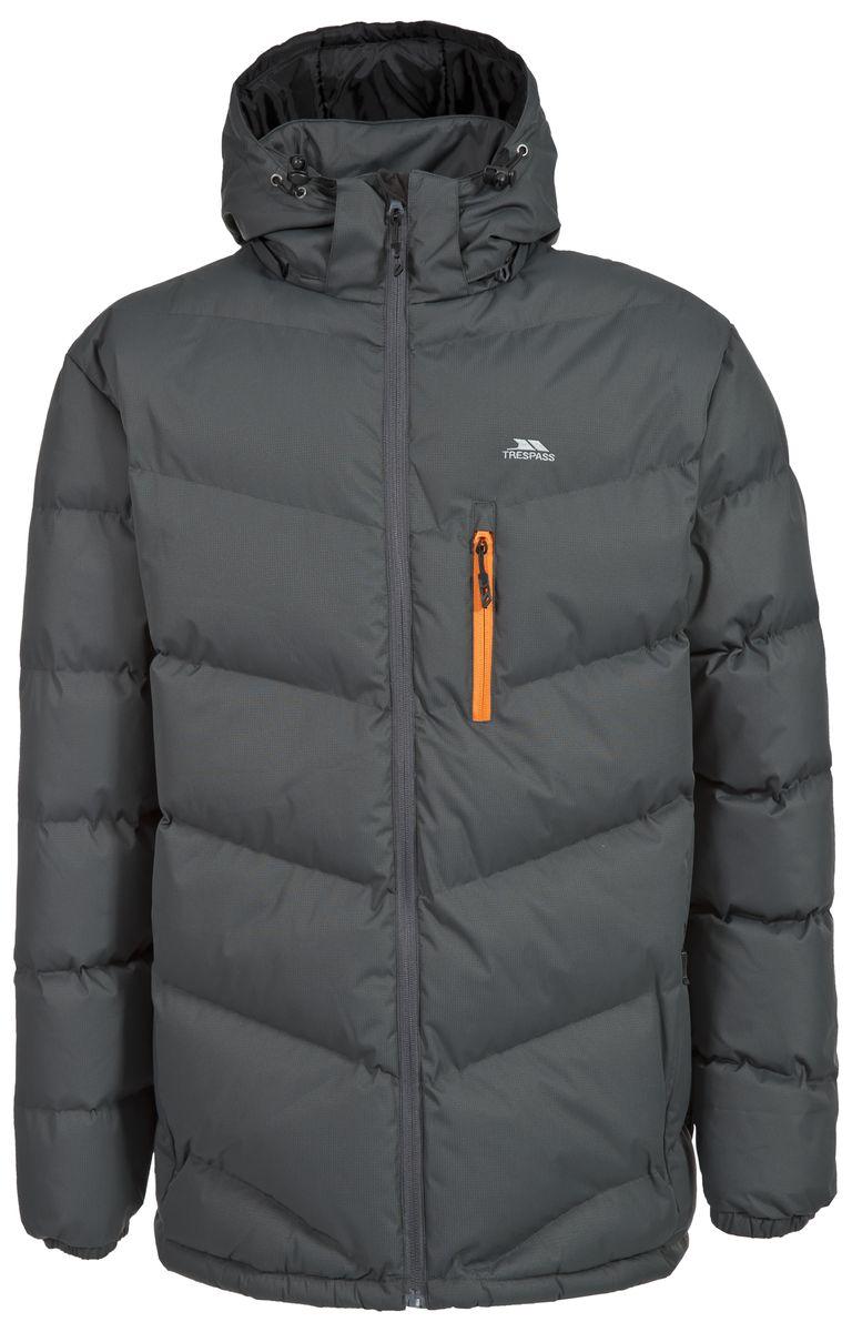 Куртка мужская Trespass Blustery, цвет: серый. MAJKCAK20004. Размер XXL (56)MAJKCAK20004Мужская куртка Trespass Blustery выполнена из 100% полиэстера и застегивается на застежку-молнию. Утеплитель ColdHeat 360 г/м2 (синтетический, микроволоконный с функцией быстрого отвода влаги и высоким уровнем теплозащиты и износостойкости). Каждый простроченный шов от иглы оставляет сотни отверстий, через которые влага может проникать внутрь куртки. Применение технологии Taped Seams - обработка швов термо-пластичесткой лентой под высоким давлением - запечатывает швы, тем самым препятствуя проникновению влаги внутрь куртки, дополнительно обеспечивая вашему телу сухость и комфорт. Материал верха защищает от влаги (влагозащита - 5 000мм) и имеет дополнительное усиление от разрыва. Утепленный регулируемый капюшон. Прекрасно подойдет как для города, так и для отдыха на природе.