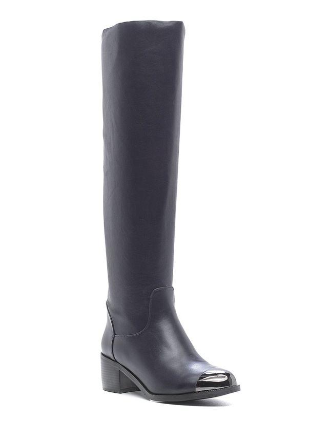 Ботфорты женские Daze, цвет: темно-синий. 16461Z-1-4F. Размер 3716461Z-1-4FОригинальные ботфорты Daze заинтересуют вас своим дизайном. Модель выполнена из искусственной кожи. Подошва с рельефным протектором обеспечивает отличное сцепление на любой поверхности. В этих ботфортах вашим ногам будет комфортно и уютно. Они подчеркнут ваш стиль и индивидуальность.