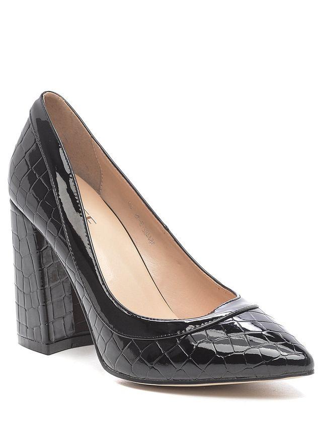 Туфли женские Daze, цвет: черный. 16448Z-3-1S. Размер 3716448Z-3-1SИзысканные женские туфли Daze эффектно дополнят ваш модный образ.Модель на высоком каблуке выполнена из искусственной кожи. Зауженный носок смотрится стильно. Стильные туфли подчеркнут вашу яркую индивидуальность, позволят выделиться среди окружающих.