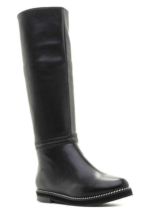 Сапоги женские Daze, цвет: черный. 16463Z-4-2F. Размер 4016463Z-4-2FОригинальные женские сапоги Daze - отличный вариант на каждый день. Модель выполнена из искусственной кожи. Умеренной высоты каблук устойчив. Подошва с рельефным протектором обеспечивает отличное сцепление на любой поверхности. В этих сапогах вашим ногам будет комфортно и уютно.