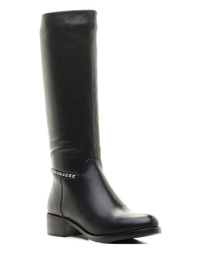 Сапоги женские Daze, цвет: черный. 16504Z-2-2F. Размер 4116504Z-2-2FОригинальные женские сапоги Daze - отличный вариант на каждый день. Модель выполнена из искусственной кожи с подкладкой из фельпы. Умеренной высоты каблук устойчив. Подошва с рельефным протектором обеспечивает отличное сцепление на любой поверхности. В этих сапогах вашим ногам будет комфортно и уютно.