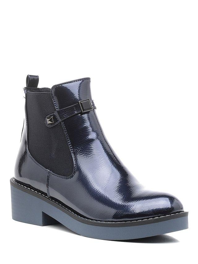 Ботинки женские Daze, цвет: темно-синий. 16423Z-1-3F. Размер 3816423Z-1-3FСтильные женские ботинки Daze выполнены из искусственной кожи. Подошва оснащена рифлением. Такие ботинки отлично подойдут для тех, кто хочет подчеркнуть свою индивидуальность.