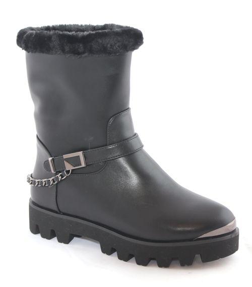 Ботинки женские Daze, цвет: черный. 16124Z-1-1L. Размер 3716124Z-1-1LСтильные женские ботинки Daze выполнены из искусственной кожи. Модель дополнена декоративным ремешком. Такие ботинки отлично подойдут для тех, кто хочет подчеркнуть свою индивидуальность.