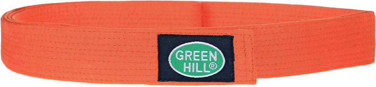 Пояс для карате Green Hill, цвет: оранжевый. G-1014G. Размер 280G-1014GПояс для карате Green Hill - универсальный пояс для кимоно. Пояс выполнен из плотного хлопкового материала с многорядной прострочкой. Модель дополнена текстильной нашивкой с названием бренда.