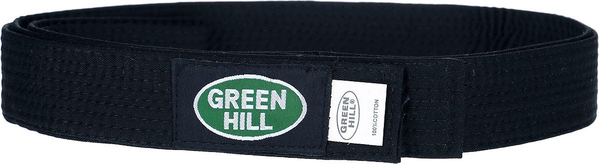 Пояс для кикбоксинга Green Hill 7-Contact, цвет: черный. KBB-1015. Размер 200KBB-1015Пояс для кикбоксинга Green Hill 7-Contact выполнен из плотного хлопкового материала с многорядной прострочкой. Модель дополнена текстильной нашивкой с названием бренда.