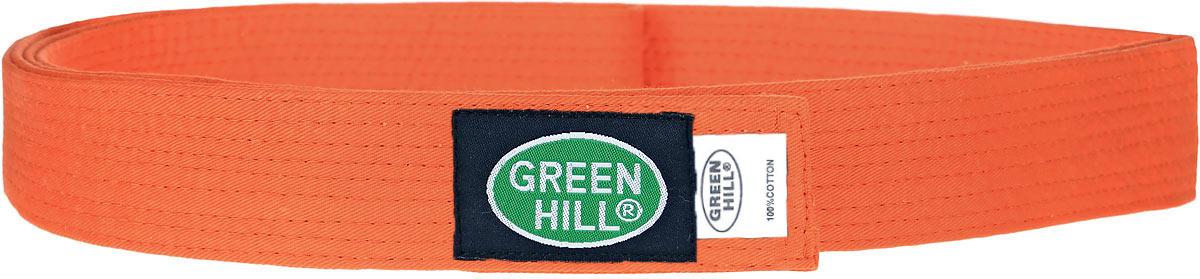 Пояс для кикбоксинга Green Hill 7-Contact, цвет: оранжевый. KBB-1015. Размер 200KBB-1015Пояс для кикбоксинга Green Hill 7-Contact выполнен из плотного хлопкового материала с многорядной прострочкой. Модель дополнена текстильной нашивкой с названием бренда.