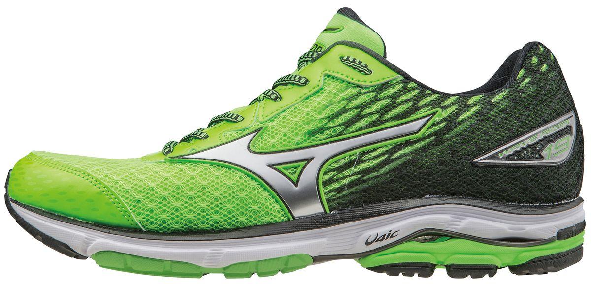 Кроссовки для бега мужские Mizuno Wave Rider 19, цвет: салатовый. J1GC1603-08. Размер 10 (43,5)