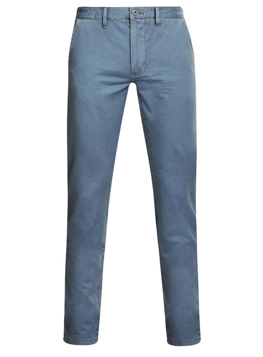 Брюки мужские oodji Basic, цвет: голубой. 2B150007M/39138N/7400N. Размер 38-182 (46-182)2B150007M/39138N/7400NМужские брюки oodji Basic выполнены из натурального хлопка. Модель застегивается на пуговицу в поясе и ширинку на молнии. Имеются шлевки для ремня. Спереди расположены два втачных кармана и прорезной кармашек, сзади - два прорезных кармана на пуговицах.
