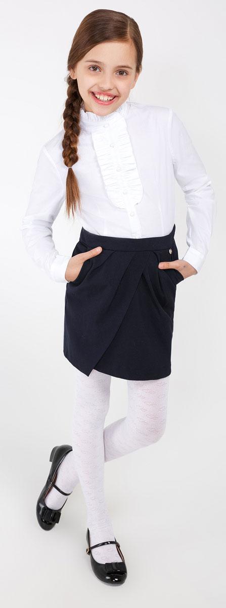 Юбка для девочки Acoola Faradey, цвет: темно-синий. 20210180022_600. Размер 15820210180022_600Стильная юбка для девочки Acoola Faradey идеально подойдет для школы и повседневной носки. Изготовленная из высококачественного материала. Юбка сзади застегивается на пуговицу и потайную застежку-молнию. Крупные складки спереди обеспечивают комфортный свободный силуэт. Модель дополнена двумя боковыми карманами.