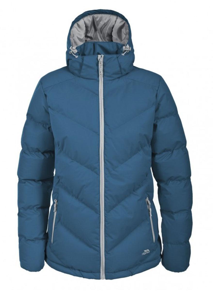 Куртка женская Trespass Sitka, цвет: серо-голубой. FAJKCAL20001. Размер S (44)FAJKCAL20001Великолепная теплая куртка для русской зимы Trespass Sitka выполнена в спортивном стиле. Утеплитель ColdHeat 360 г/м2 (синтетический, микроволоконный с функцией быстрого отвода влаги и высоким уровнем теплозащиты и износостойкости). Каждый простроченный шов от иглы оставляет сотни отверстий, через которые влага может проникать внутрь куртки. Применение технологии Taped Seams - обработка швов термо-пластичесткой лентой под высоким давлением - запечатывает швы, тем самым препятствуя проникновению влаги внутрь куртки, дополнительно обеспечивая Вашему телу сухость и комфорт. Материал верха защищает от влаги (влагозащита - 5 000мм) и имеет дополнительное усиление от разрыва. Утепленный регулируемый капюшон. Прекрасно подойдет как для города, так и для отдыха на природе.